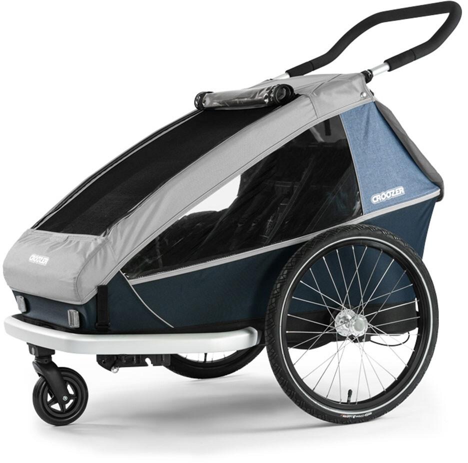 croozer kid le for 2 bike trailer stone grey at. Black Bedroom Furniture Sets. Home Design Ideas